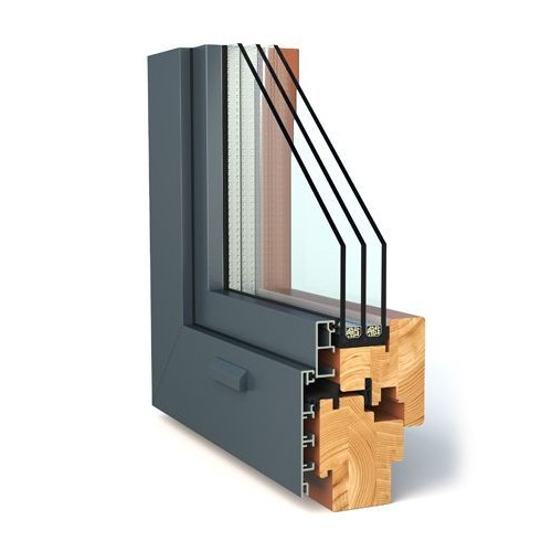 Wood-aluminum window DUO CONTOUR