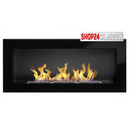 FIREPLACE BIO ETHANOL 900X400 black gloss