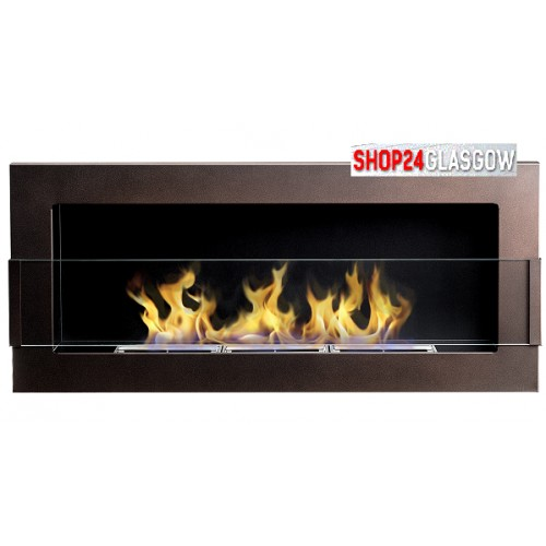 FIREPLACE BIO ETHANOL 900X400 BROWN - glass