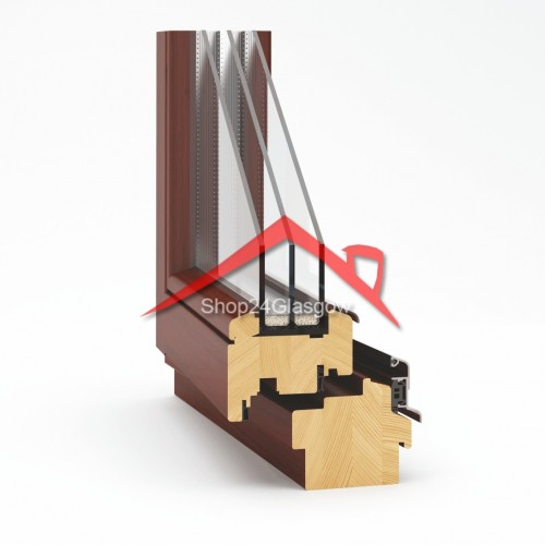 Wooden window EcoTherm 92